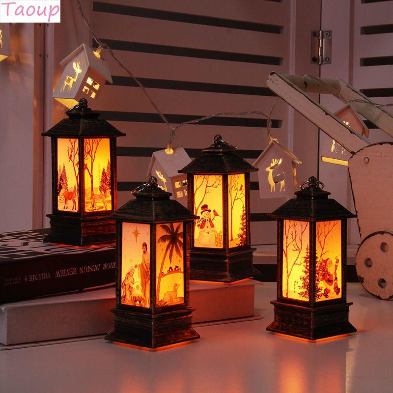 Taoup Noel LED-Weihnachtslichter frohe Weihnachtsdekoration für Haus Ornamente Kerze Xmas Lights Navidad Weihnachtsmann SH190918