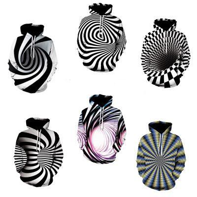 Estoque de alta qualidade 3D impressão completa Traje Design Gráfico de Poliéster Roupas Camisola, Mens Vestuário Galaxy Vortex manga longa Moletom Com Capuz Ypf260