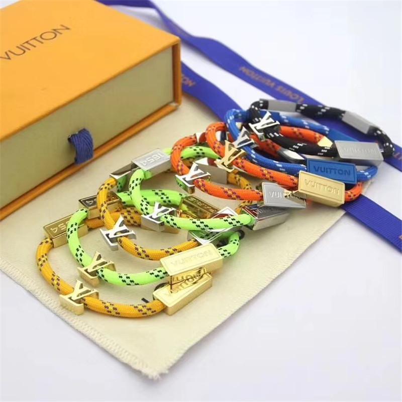 Mode Männer Frauen Armbänder Tide-Marken-Frauen-Armband-einfache Art-Armband High Street Männer Armband-Charme-Schmuck