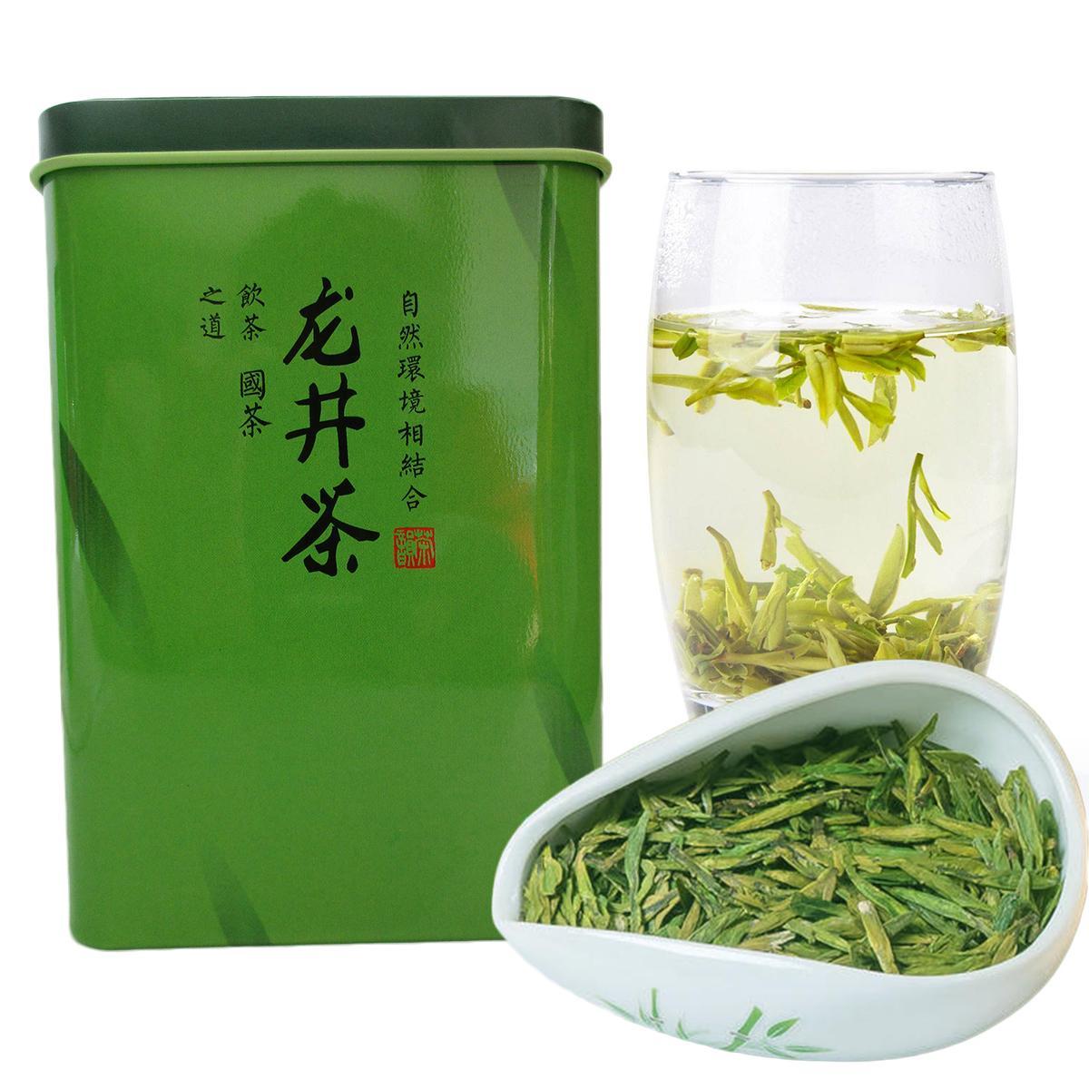 180g organico cinese West Lake Longjing del pozzo del drago aromatico tè verde sanità Early Spring Tea Nuova profumato tè verde regalo pacco alimentare