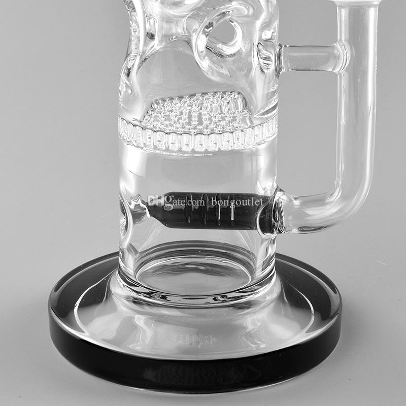 Eisfänger-Wasserpfeife Wasserrohr schwarze Farbe Gerade Bongs für Raucherglasschüssel DAB-Rig