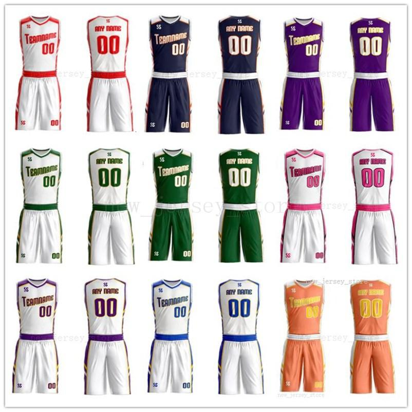 Customize Any name Any number Man Women Lady Youth Kids Boys Basketball Jerseys Sport Shirts As The Pictures You Offer ZZ0212