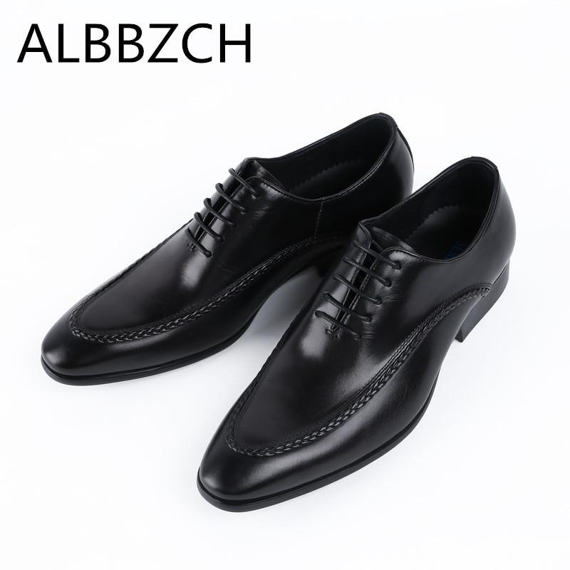 nuevo estilo profesional mejor autentico Compre Para Hombre De Cuero Genuino Zapatos Oxford Hombres Zapatos De  Vestir De Boda Moda Costura Diseño Calidad Cuero De Vaca Trabajo De Oficina  De ...
