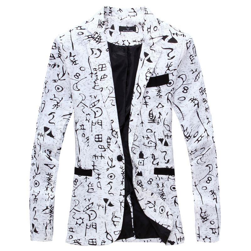 2019 Linen designer Men Clothing  Designer Mens Blazer print Jacket Stylish Fancy  floral Males Suits Blazers
