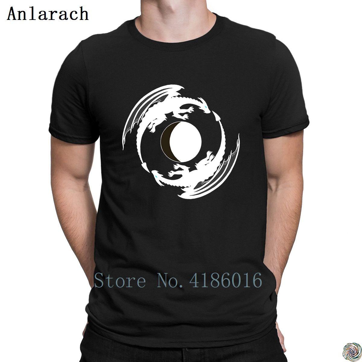 Mond-Drachen t-shirts Hip-Hop-Personality Sommer ursprüngliche Männer T-Shirt der neue Street Short Sleeve Fit