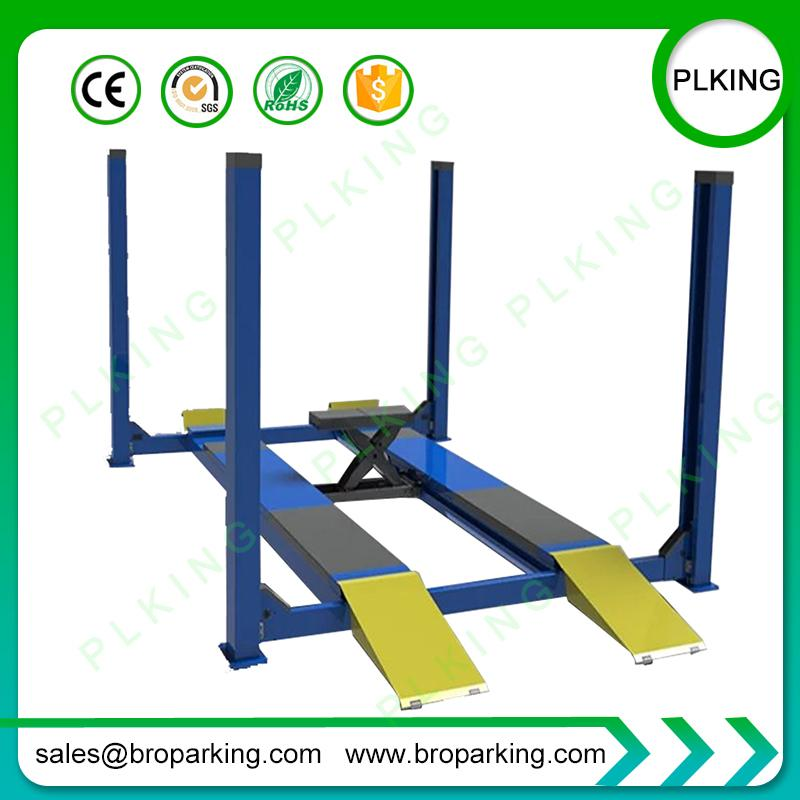 PLKING 4 Post Hydraulic Car Service Lift-Ausrichtungsaufzug