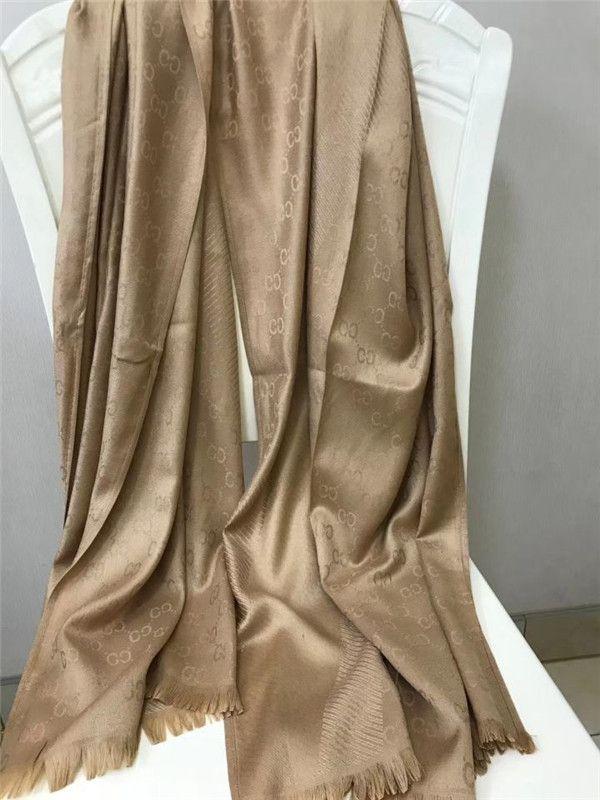 2020 Seide und Wolle Schal Mode Damen 4 Saison-Schal-Schal Schreiben Streifen Schal Größe 180x70cm 9 Farben-Qualität