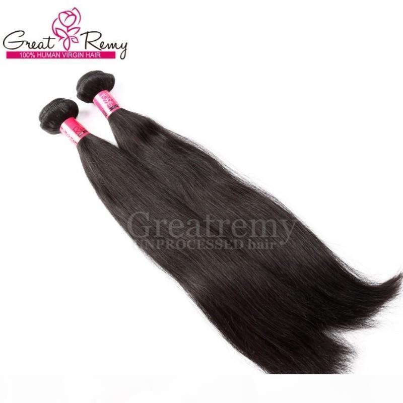 """Einzelhandel 2pcs 100% peruanisches Haar Doppel-einschlag Erweiterung Weave 8 """"~ 30"""" Rohboden Remi Haar-natürliche Farbe einfärbbar seidige gerade Groß"""