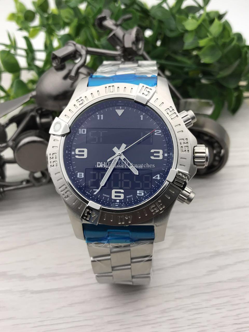 TOP Qualität Mannuhr Stahl Quarzwerk Männlicher Uhr aus rostfreien Uhren Mann Armbanduhr 220