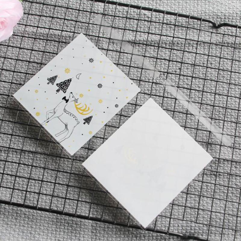 과자 웨딩 파티 선물 포장 캔디 쿠키 포장 만화 사슴 곰 선물 투명 가방 좋아요 ~ 가방을 부탁