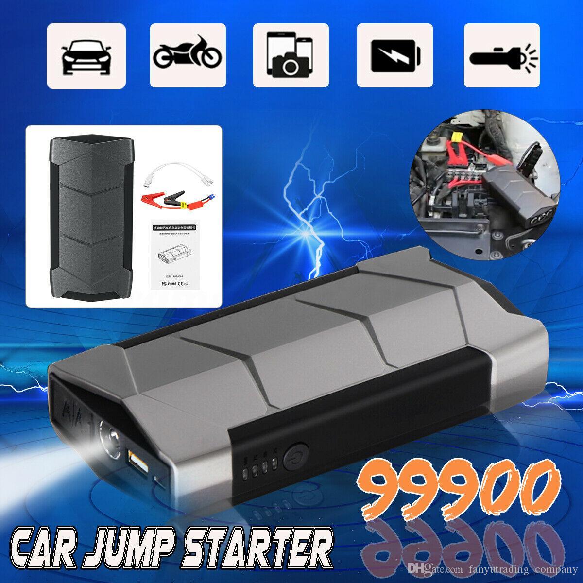 Mini Portable 12V 99900mAh Car Jump Starter Battery USB Charger Emergency Power Bank for Car Battery Booster Starting Device