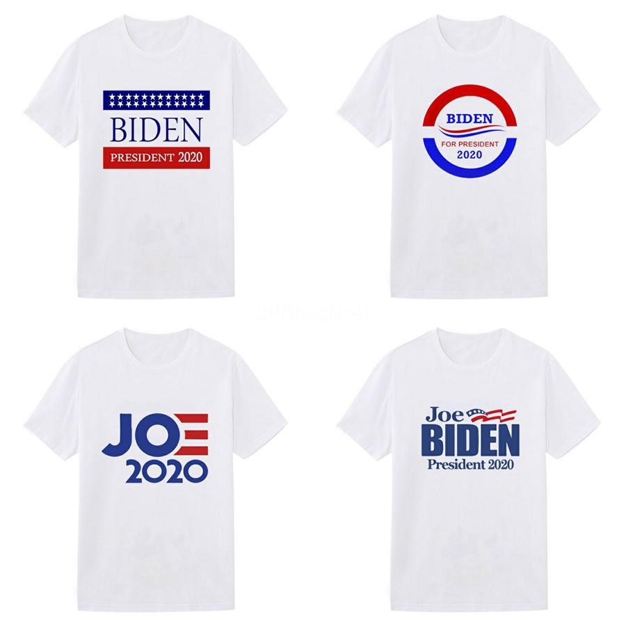 Hombres de diseno Biden T Shirts Hombre Ropa de verano Camisa del equipo Casual cuello modal manga corta de alta calidad de la manera para los hombres tamaño M-3XL # 128