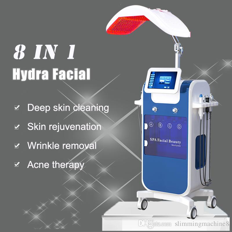 Hydra machine visage dermabrasion 8 en 1 diamant dermabrasion oxygène injecteur pour tête spot enlèvement microdermabrasion Machine HydraFacial