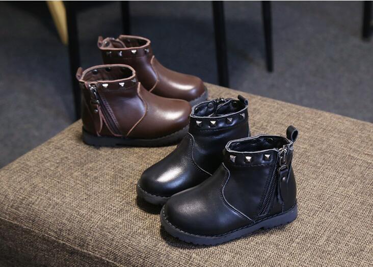 Hiver doux polaire bottes en cuir véritable Toddler Kid chaussures bébé nouveau-né garder au chaud chaussures, Livraison gratuite Y190529