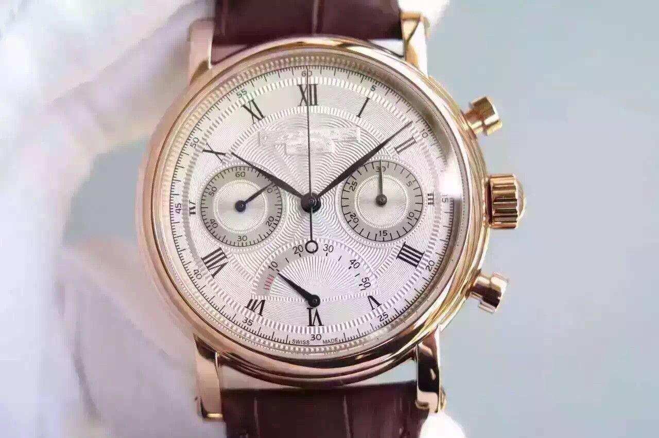 TF montre DE lüks çok fonksiyonlu kronometre 7750 el zincir mekanik hareket saatler 40 mm * 12mm kinetik enerji görüntüleme tasarımcı saatler