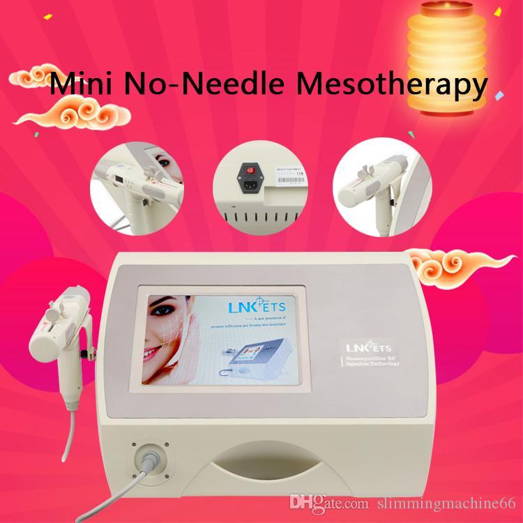 Портативный Free Mini Нет Needle Free Мезотерапия Professional Устройство Электропорация Mini No-Needle мезотерапия Быстрая перевозка груза CE / DHL