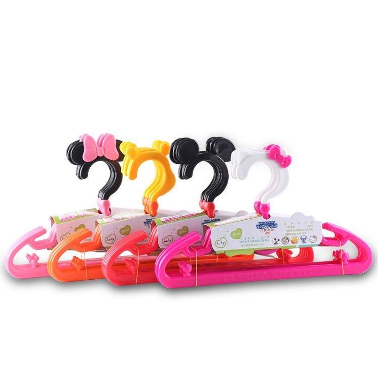 Wholesale children's cartoon mouse plastic clothes hanger baby baby cute solid pants rack practical boy girl
