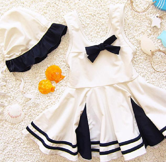Dollplus جديد ملابس الأطفال ملابس السباحة الطفل للبنات أطفال بيكيني اللباس الشاطئ قطعة واحدة طفل فتاة الاستحمام بدلة السباحة