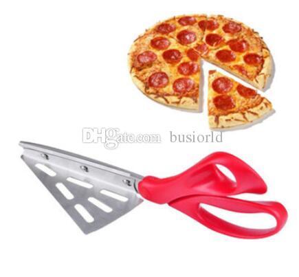 Pratico staccabile forbici per pizza in acciaio forbici per pala per pizza strumenti per la cottura forbici da cucina 50 pz / lotto da DHL spedizione gratuita