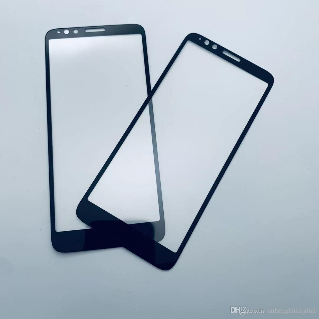 borda curva completa Tampa de vidro temperado para MOTO E6 E6 além de Google Pixel 4 pacote papel 4XL Samsung Galaxy A20 LG K50