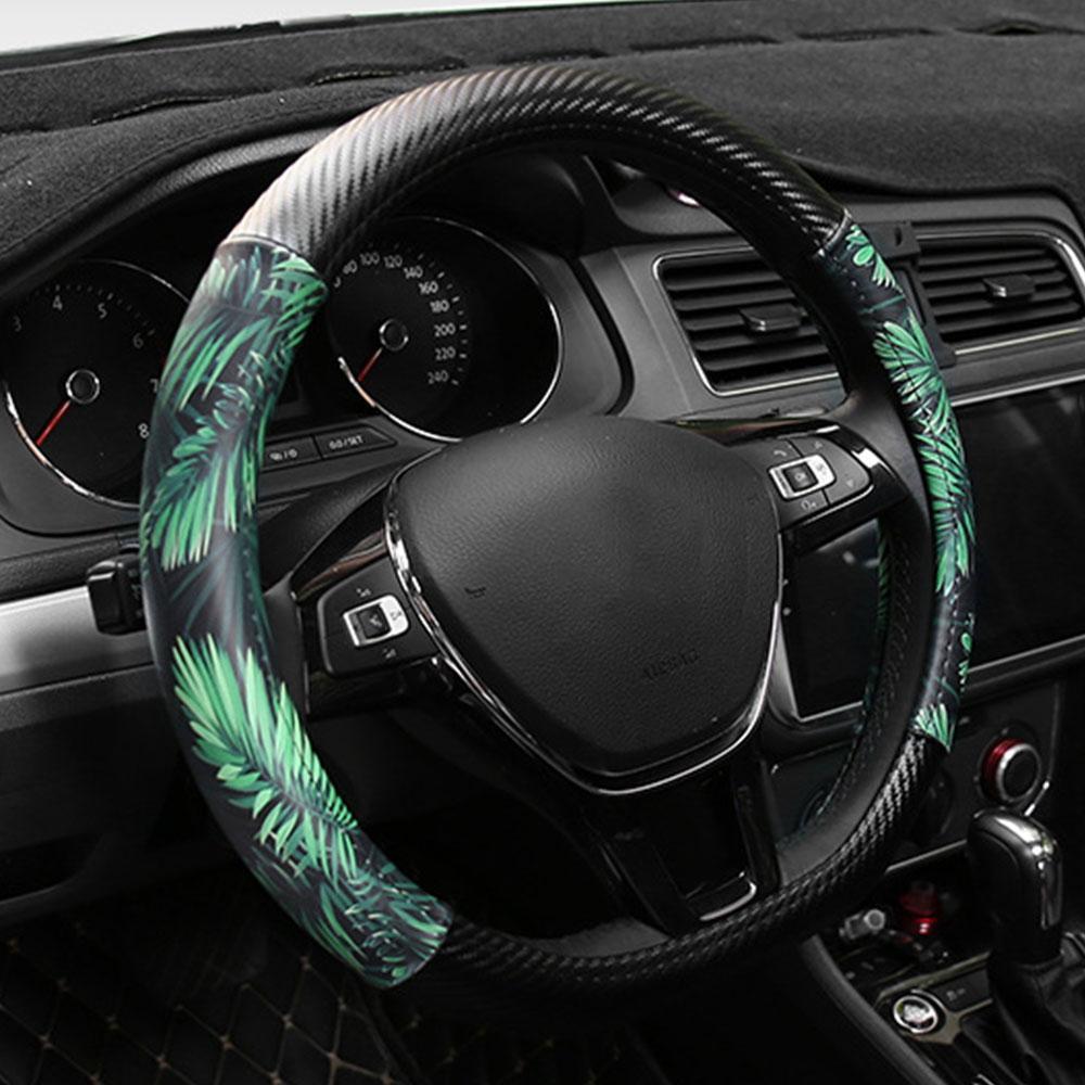 vendita all'ingrosso Volante copertura del volante in pelle auto universale Coperture per diametro 38 centimetri Accessori auto Interni