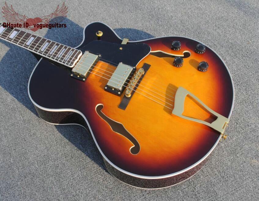 Custom Shop Jazz Guitar Sunburst chitarra elettrica chitarre all'ingrosso da trasporto libero della porcellana