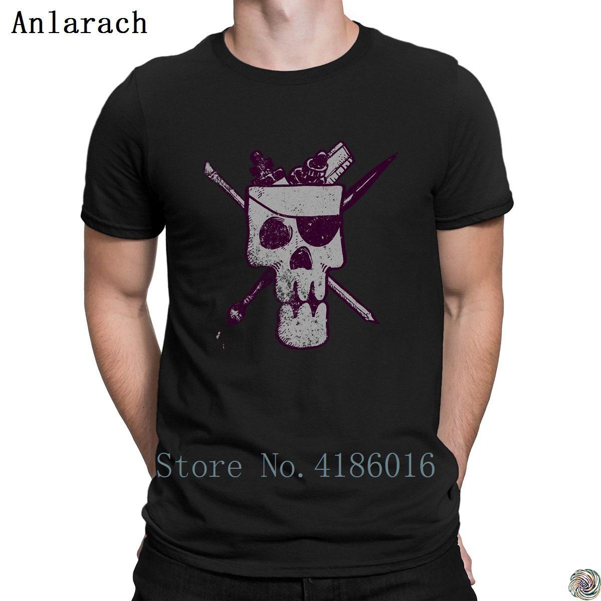 Арт череп футболка одежда евро размер S-3xl личность хорошая футболка для мужчин письмо хип-хоп против морщин футболка весна осень