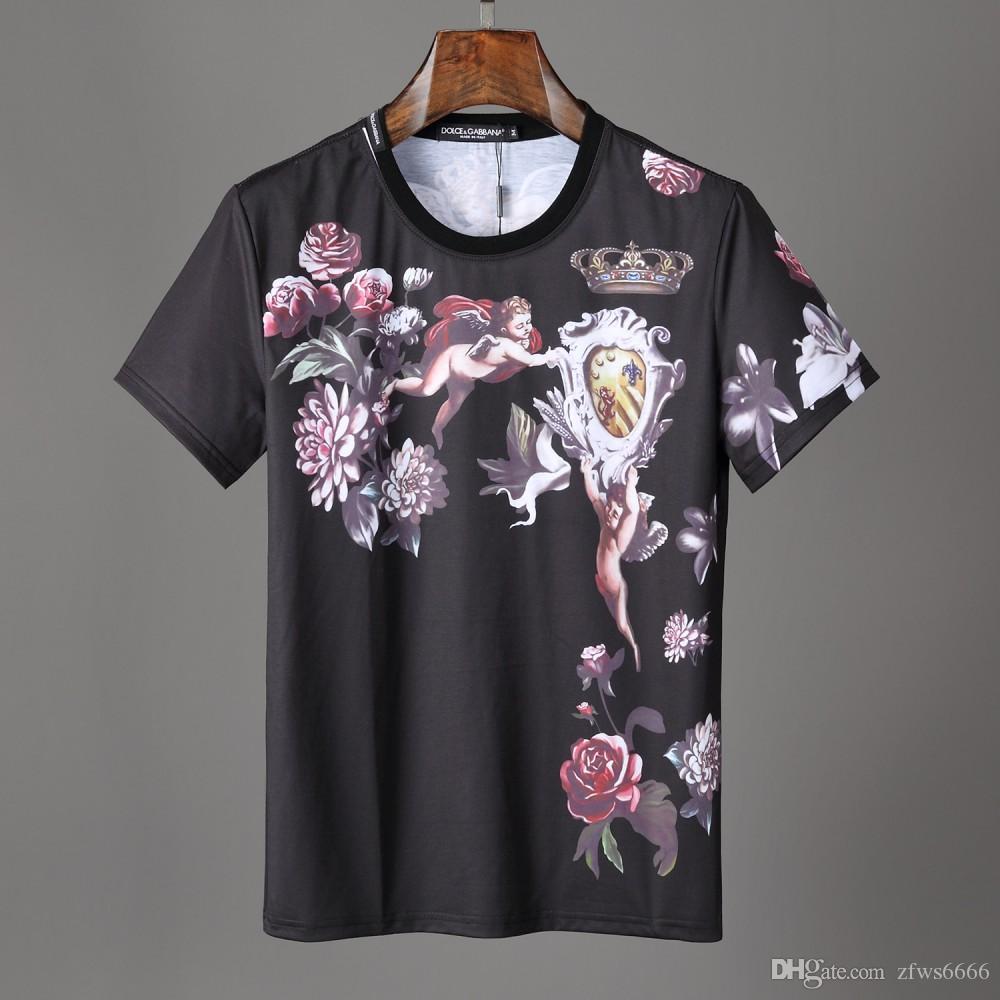 Para hombre diseñador camisetas O cuello mujeres camisetas 5135 manga corta París Italia Marca estilo Hip Hop impresión de algodón de alta calidad Nuevo