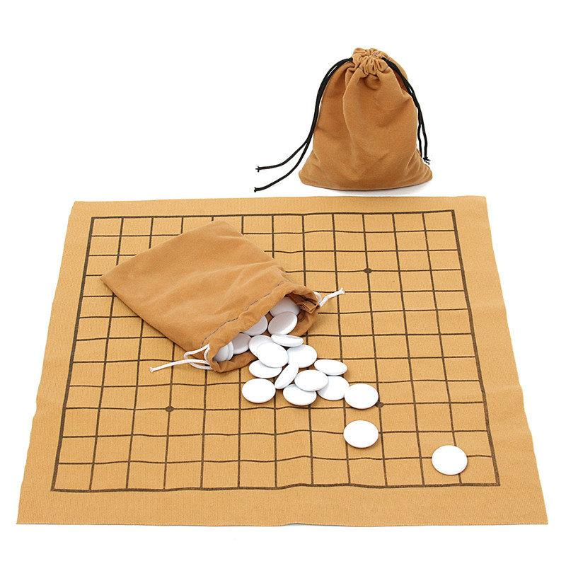 NEW Fun Family Games 90PCS Go Bang Chess Game Set Suede Leather Sheet Board Children Educational Entertainment Board Game