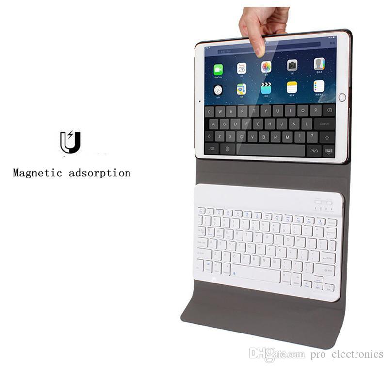 caso de cuero de lujo de diseño para el ipad con la cubierta protectora del teclado inalámbrico Bluetooth para iPad pro de aire 2 9.7 10.5 pulgadas