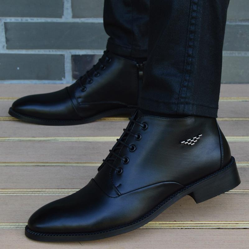 2018 New fashion Boots Men canvas Shoes Men Ankle Boots autumn Winter Oxford Shoes For Men Boots
