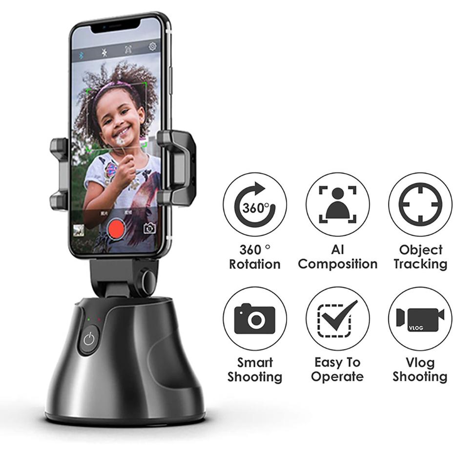 Auto Tracking Smart-Shooting-Telefon-Halter Smartphone Selfie Shooting Gimbal Objekt 360 Umdrehung Auto Face Tracking-Halter für alle Telefon