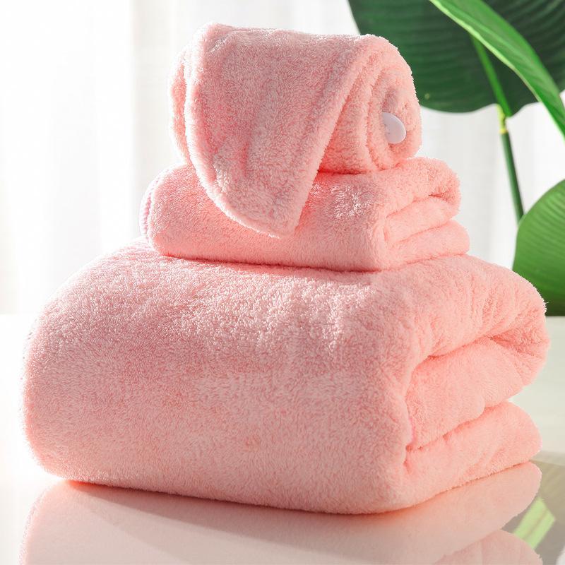 Mujeres Recznik HandDoeken Bain Toallas Toallas Toalla Microfibra Pelo 3pcs / Set para adultos de Serviette Toalla de toalla Toallas Baño Lfmuk
