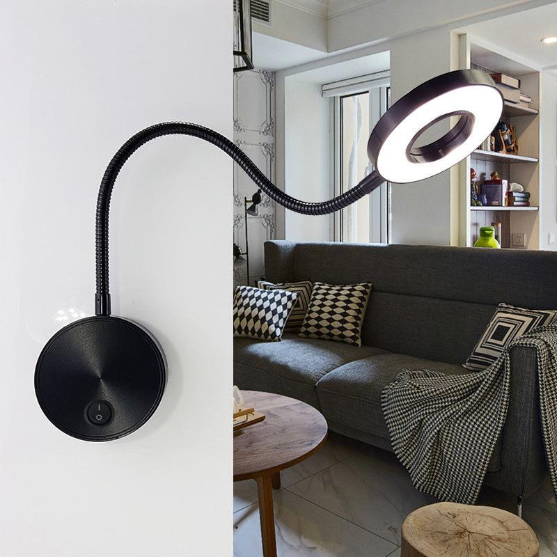 mode moderne Lampes de lecture en aluminium 5W Tuyaux LED mur lampe flexible Accueil Hôtel de chevet lampe de lecture Wall Light