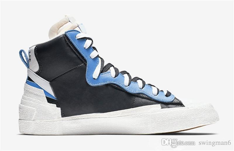 2019 Novità Relelase Sacai x LDWaffle Blazer Mid Scarpe da corsa Uomo Donna Verde Gusto Varsity Blu Scarpe da ginnastica Authentic Sport Sneakers con scatola