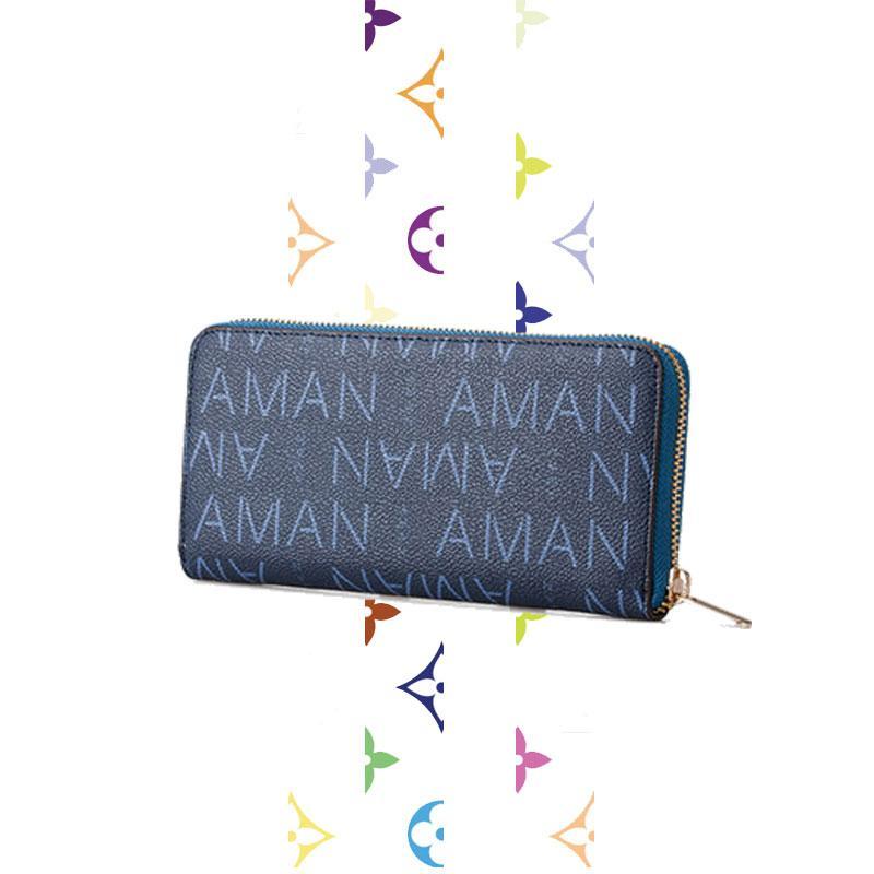 د حقائب esigner إمرأة 2020 رجل جديد ومحافظ نسائية طويلة متعددة الوظائف سستة أزياء المحفظة محفظة جلدية كليب فاتورة كبيرة