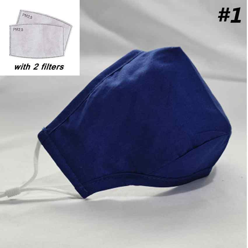 11 Стили для взрослых Маски для лица пыле дышащий хлопок маска моющийся многоразовый маска с 2pcs Фильтры ZZA2136 200lots