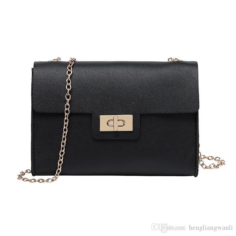 sacs pour dames sac à bandoulière design chaîne en cuir de sac à main en bandoulière packback Messenger bag portefeuille dames de couleur unie