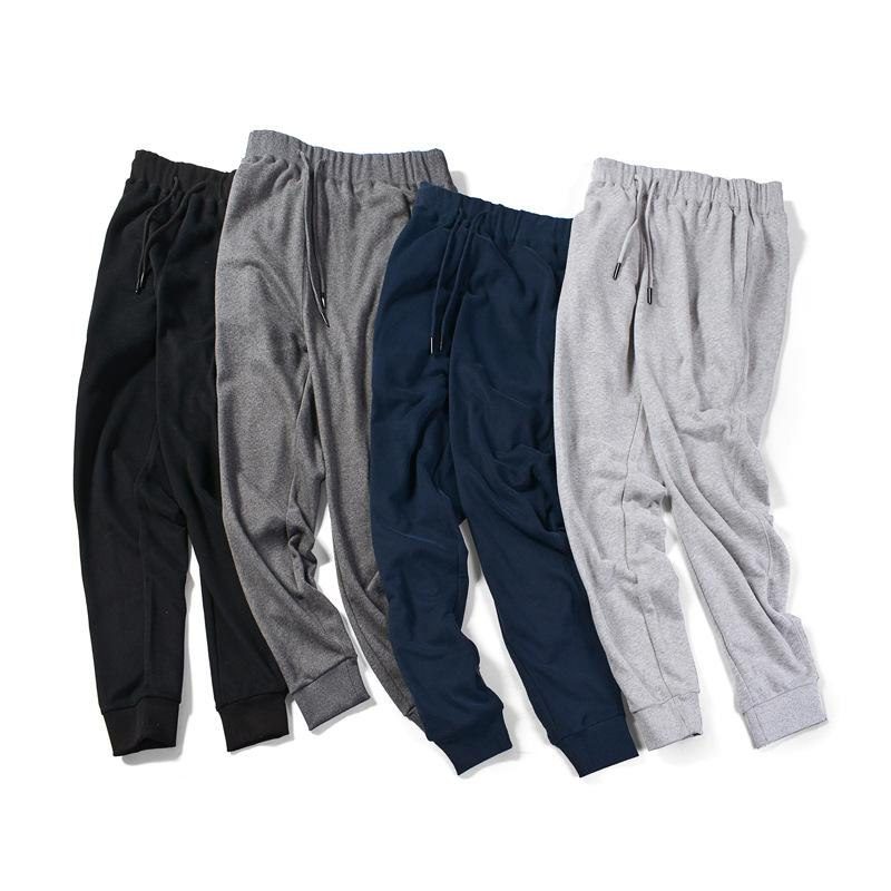 2019 frühling männer solide jogginghose dünne slim fit casual hosen männer geschlungen baumwolle bleistift sportliche jogger für lange hosen