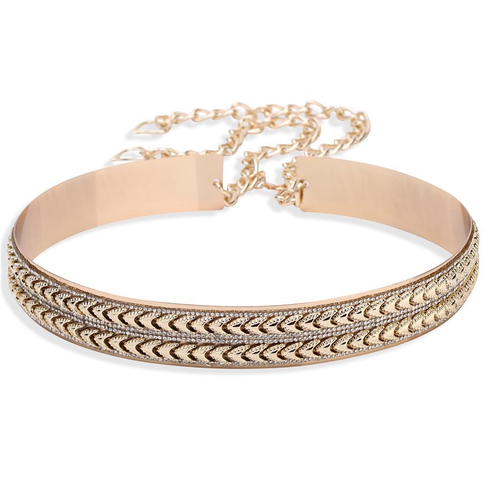 Liaomiufu New Arrival Tide Metal Mirror Chain Endurably 3.5cm Wide Belt Gold Women Fashion Apparel Accessories Belts For Women Y19070503