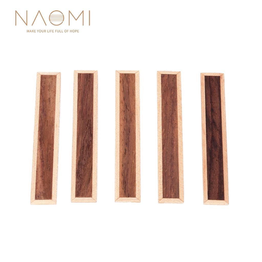 NAOMI 5 Pcs 클래식 기타 브리지 타이 인레이 로즈 우드 우드 프레임 시리즈 기타 부품 액세서리 NA-03