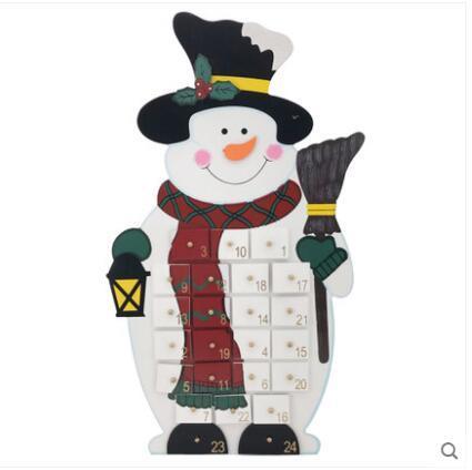 Noel Kardan Adam Geri Sayım Advent Takvimi 24 Çekmece Çocuklar Için Şeker Kutusu Hediye Kutusu Süslemeleri