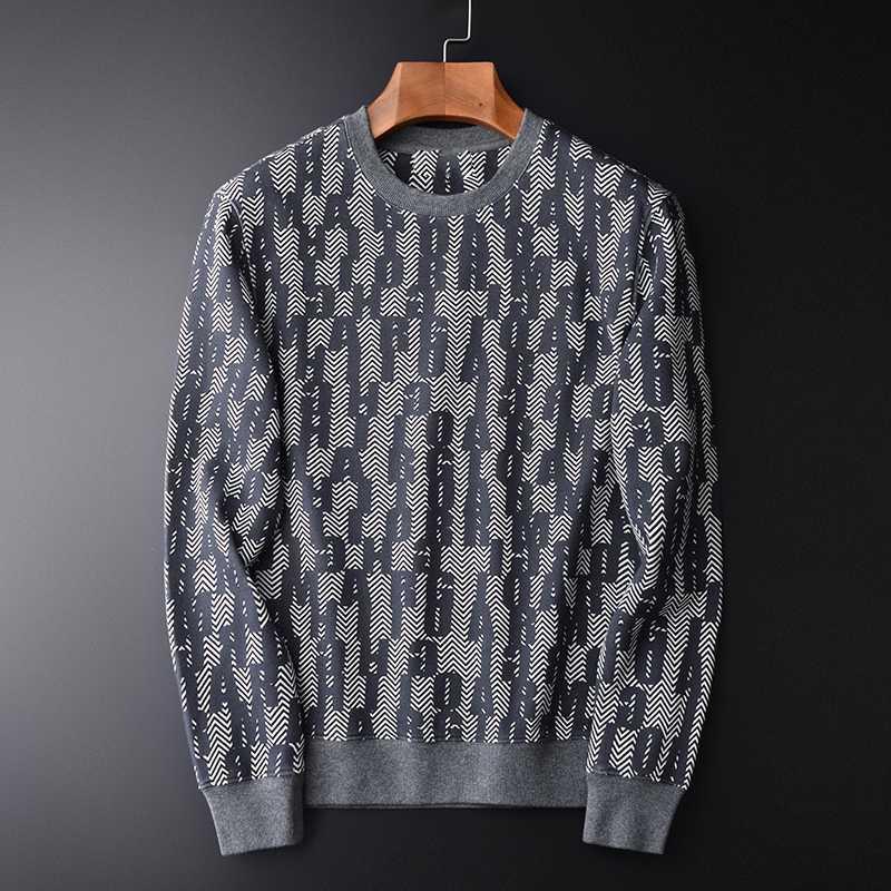 Minglu Allover Printed Sweatshirt Männer Frühlings-Herbst-runde Kragen-Sweatshirts für Männer plus Größe 4xl 100% Baumwolle Sweatshirt Männlich