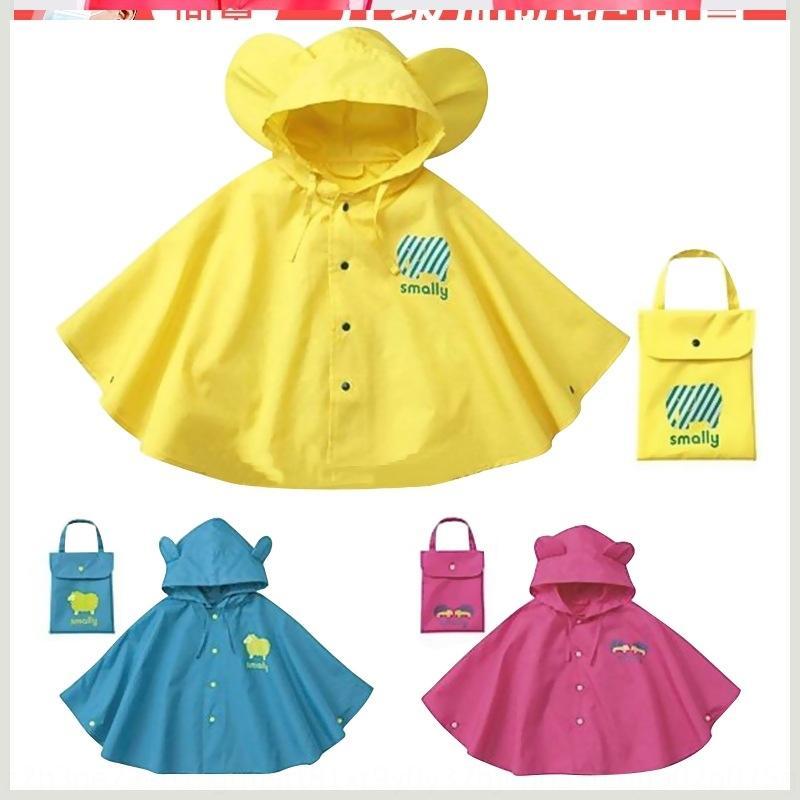 Borsa Raincoat Kindergarten Girls Girls Cloak Alunni Stile Bambino Baby Schoolbag per bambini Poncho Poncho Raincoat Bambino Gloak Boy's con FHJRB