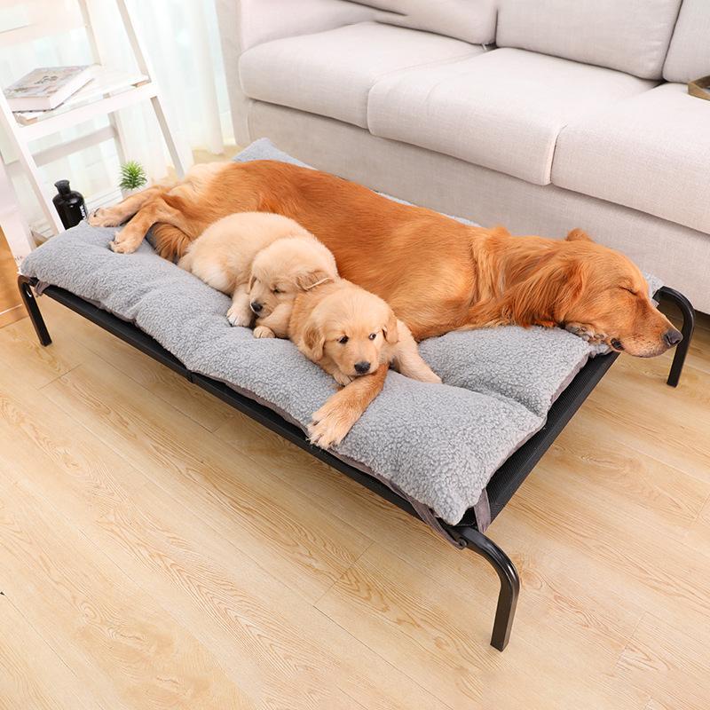 قابل للنقل الصيف نت كلب الاسرة تنفس الصلب هيكل السرير مع الصوف وسادة قابل للغسل مريحة مستلزمات الحيوانات الأليفة الكلب بيت الكلب الكلب 2020