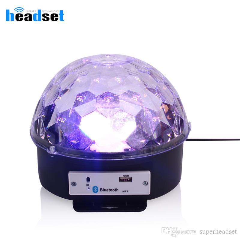 portatile senza fili Bluetooth Speaker LED luce della discoteca sfera con Mp3 Player laser del partito di promenade della luce 12w del DJ della luce della fase lampada di proiezione laser