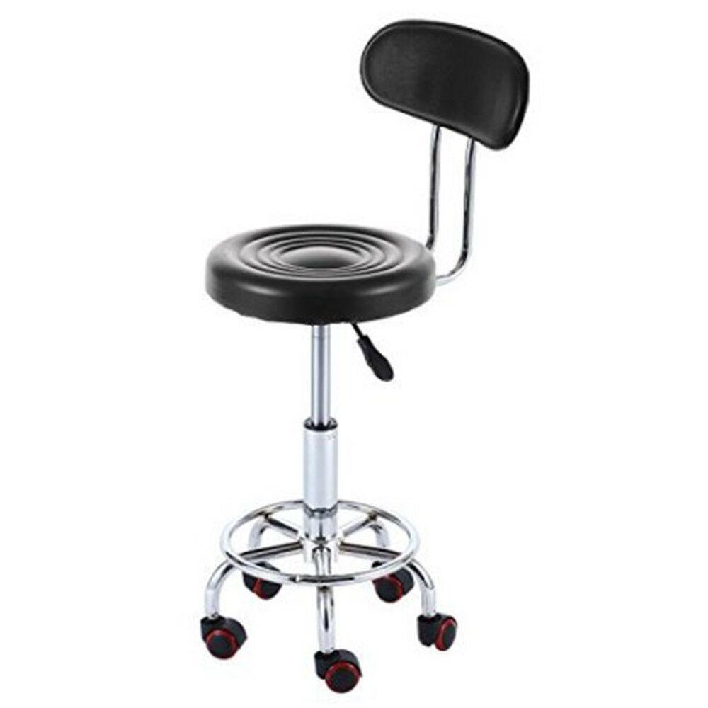 Hauteur réglable Tabouret pivotant à roulettes hydrauliques Chaise de salon spa avec repos