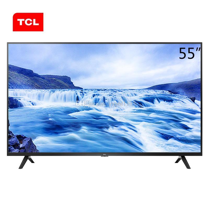 TCL alta qualità 4K Ultra HD HDR anti-azzurri TV con schermo LCD intelligente ricche risorse cinematografiche e televisive da 55 pollici liberano il trasporto.