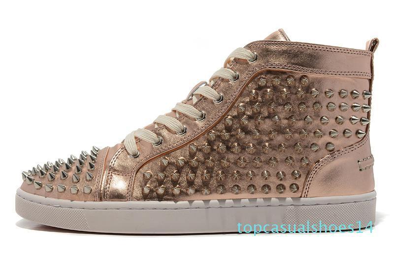New Red Bottoms Spike обувь 2020 Повседневный Flats Luxury Mens женщин Дизайнерские кроссовки для мужчин Женщины любителей высокого Топ Оптовая US5.5-US12 t14