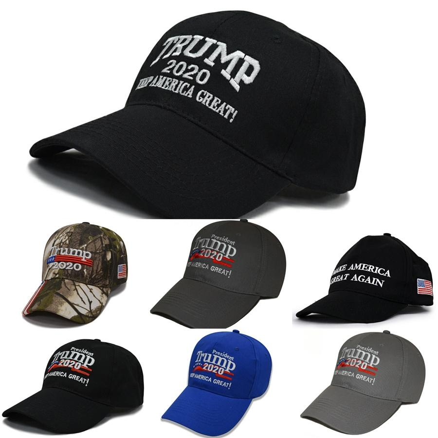 Trump Chapeau Keep America Grande Lettre brodée Washed Tissu Chapeau de boule Trump Voyage Outdoor 2020 Président Baseball Caps Ooa8025 # 851